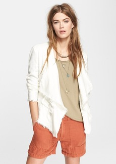 Free People Raw Open Front Jacket