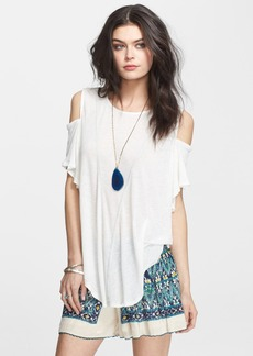 Free People Seamed Cold Shoulder Top