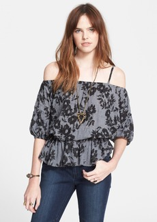 Free People 'Shades of Cool' Strappy Print Blouse