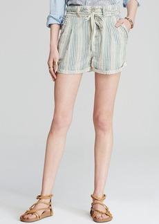 Free People Shorts - Beachy Stripe