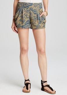 Free People Shorts - Paisley Print