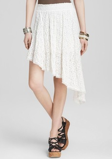Free People Skirt - Smocked Lace Tea Party