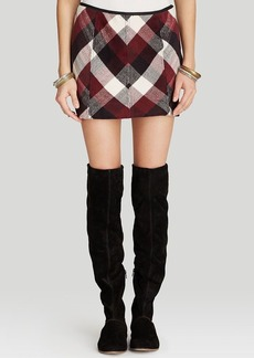 Free People Skirt - Twiggy Herringbone