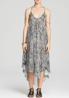 Free People Slip Dress - Printed Go To Gauze Knot For You