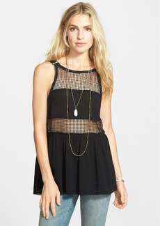 Free People 'Snap Out of It' Sheer Panel Tank