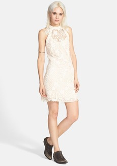 Free People 'Snowdrop' Lace Overlay Trapeze Dress