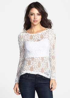 Free People 'Star Lace Crisscross' Sheer Layering Top