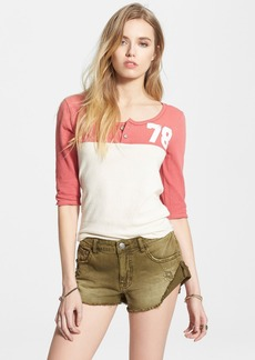 Free People 'Super Cycle' Henley Jersey Top