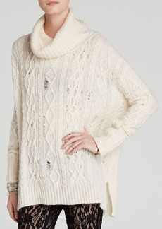 Free People Sweater - Complex Cable Turtleneck