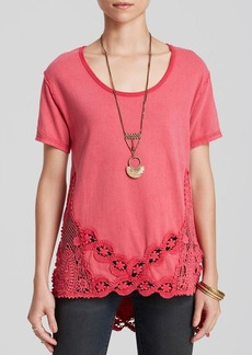 Free People Tee - The Stone Lace Detail