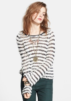 Free People Textured Stripe Pullover