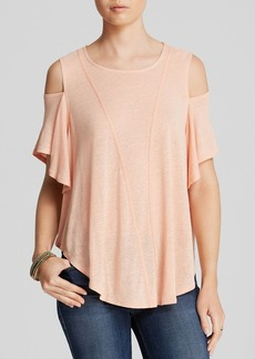 Free People Top - Cold Shoulder Seamed