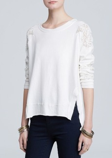 Free People Top - Grandpa Jersey Outer Sunset