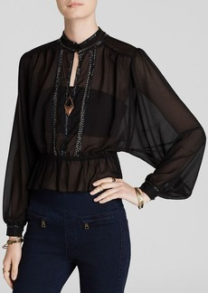 Free People Top - If I Had You Solid