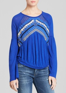 Free People Top - New World Jersey In the Flowers