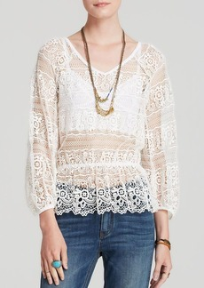 Free People Top - Saturdays Lace
