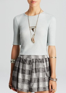 Free People Top - So Good Thermal Crop