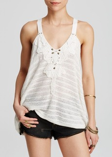 Free People Top - Washed Ashore Embellished