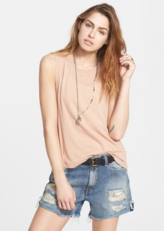 Free People Twist Back Jersey Tank