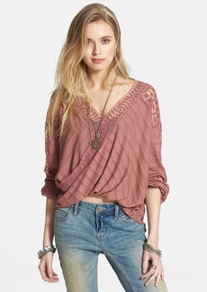 Free People 'Valley City' Mesh Panel Surplice Top