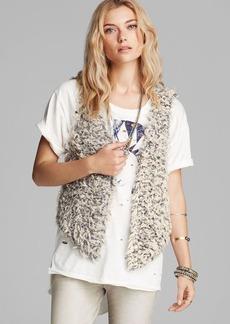 Free People Vest - Fur Away