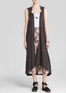 Free People Vest - Sheer Trench Knit