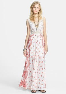 Free People 'Victorian Love' Crochet Inset Maxi Dress