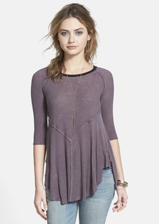 Free People 'Weekends' Lightweight Raw Edge Top