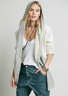 Knit Mixed Slouchy Jacket