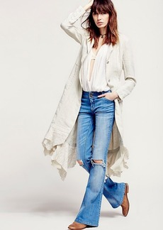 Linen Long Lace Up Jacket