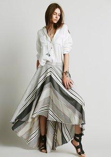 Mae's Striped Maxi Skirt