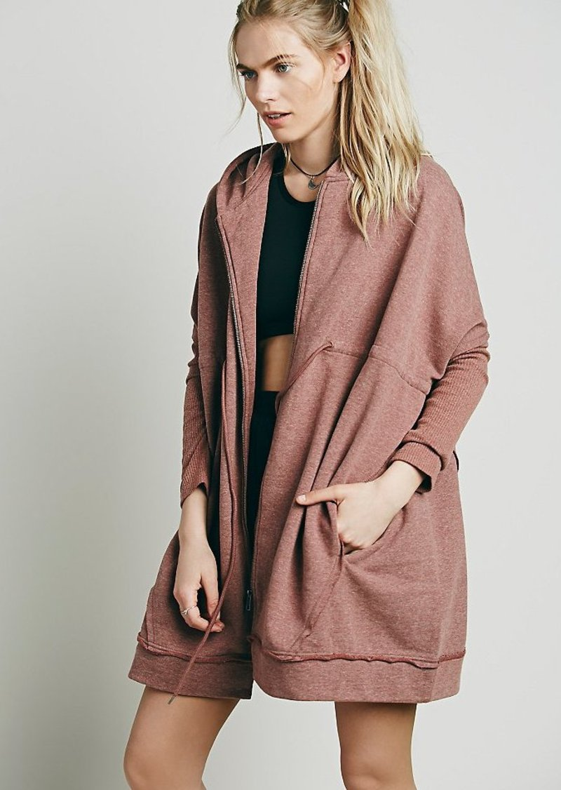 Free People Oversized Zip Hoodie Casual Shirts Shop It