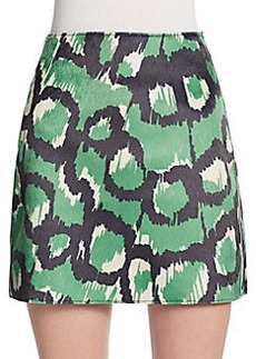 French Connection Abstract-Print Miniskirt