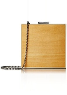 French Connection Adrian Clutch With Drop In Chain, Light Wood W Ivory, One Size