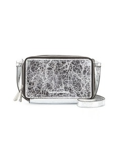 French Connection Amy Foiled Faux-Leather Crossbody Bag