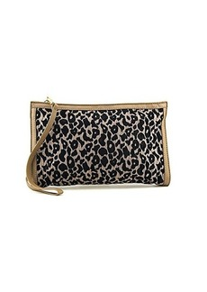 French Connection Animal Mania FCSC0023 Clutch,Smoke/Leopard,One Size