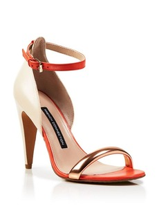 FRENCH CONNECTION Ankle Strap Sandals - Nanette High Heel