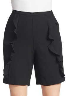 FRENCH CONNECTION Aro Crepe High Waist Shorts