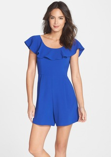 French Connection 'Aro' Ruffle Neck Crepe Romper