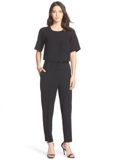 French Connection 'Arrow' Ankle Crepe Jumpsuit