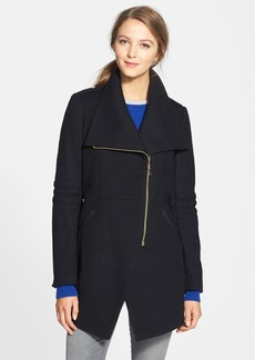 French Connection Asymmetrical Wool Blend Coat (Online Only)