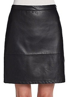 French Connection Athena Faux Leather Skirt