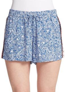FRENCH CONNECTION Bali Batik Drape Shorts
