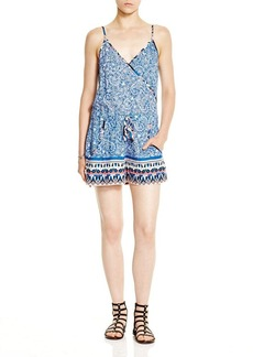 FRENCH CONNECTION Bali Batik Draped Romper