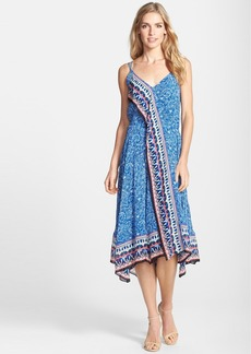 French Connection 'Bali Border' Handkerchief Hem Midi Dress