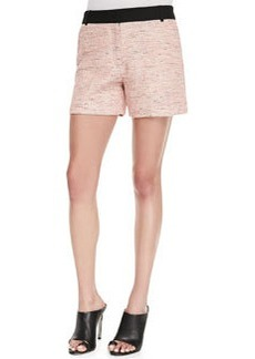French Connection Bel Air Tweed Shorts, Pink