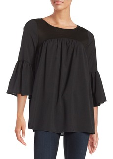 FRENCH CONNECTION Bell-Sleeved Peasant Top