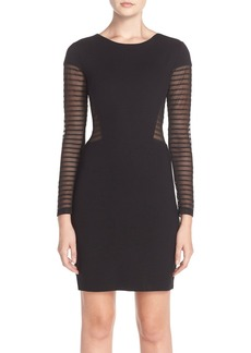 French Connection 'Bette' Mesh Inset Jersey Sheath Dress