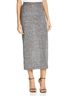 FRENCH CONNECTION Bianca Metallic Knit Midi Skirt