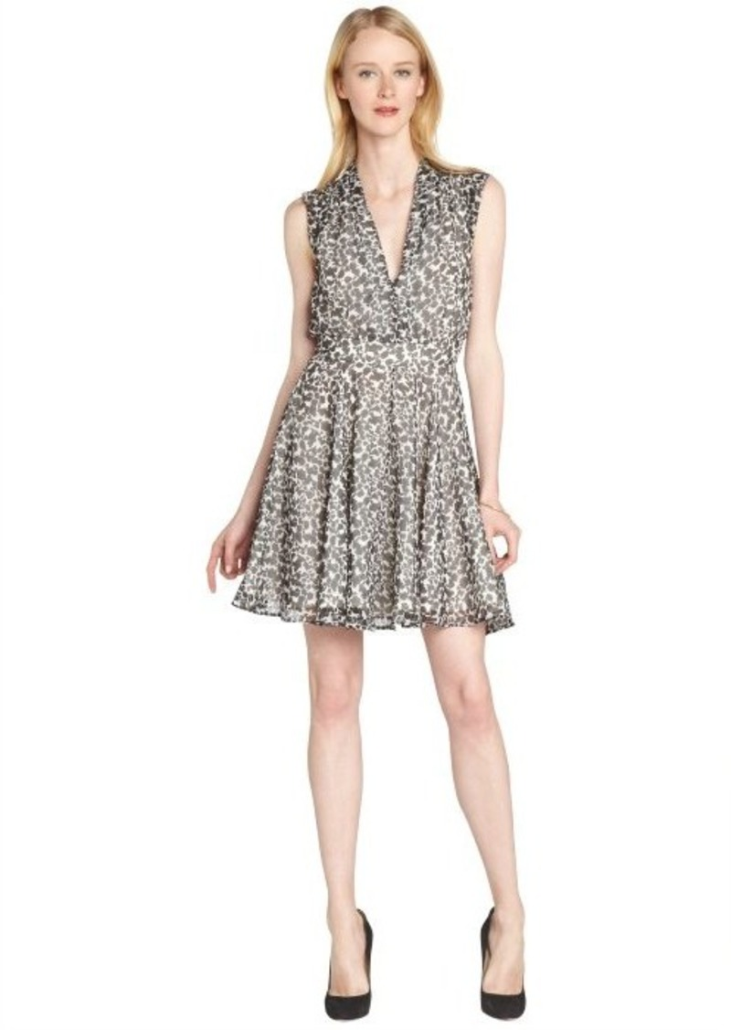 French Connection black and white animal print 'Feline Wonder' sleeveless dress